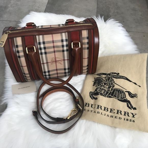 d0141cff1fd7 Burberry Handbags - Rare Burberry haymarket check bowling bag!